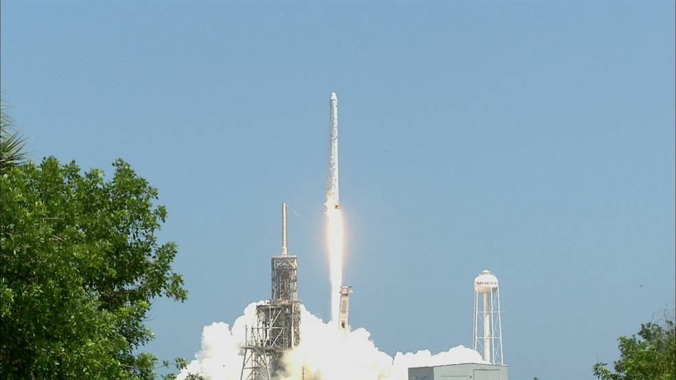 SpaceX launched its 12th resupply mission to the International Space Station from NASA's Kennedy Space Center in Florida.