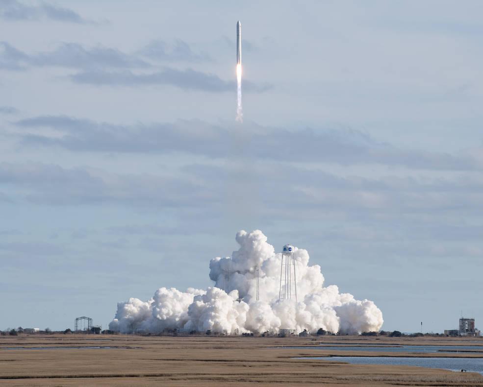 A Northrop Grumman Cygnus resupply spacecraft