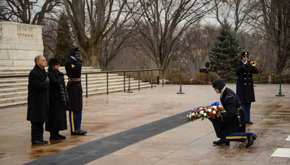Remembrance event, Arlington Cemetery (NASA)