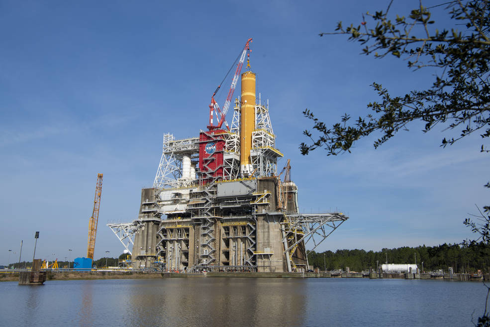 Core Stage for NASA Moon Rocket Ready for SLS Green Run Testing