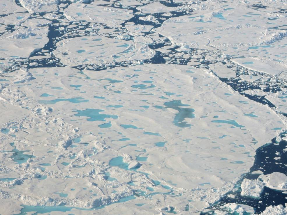 A collection of broken up sea ice