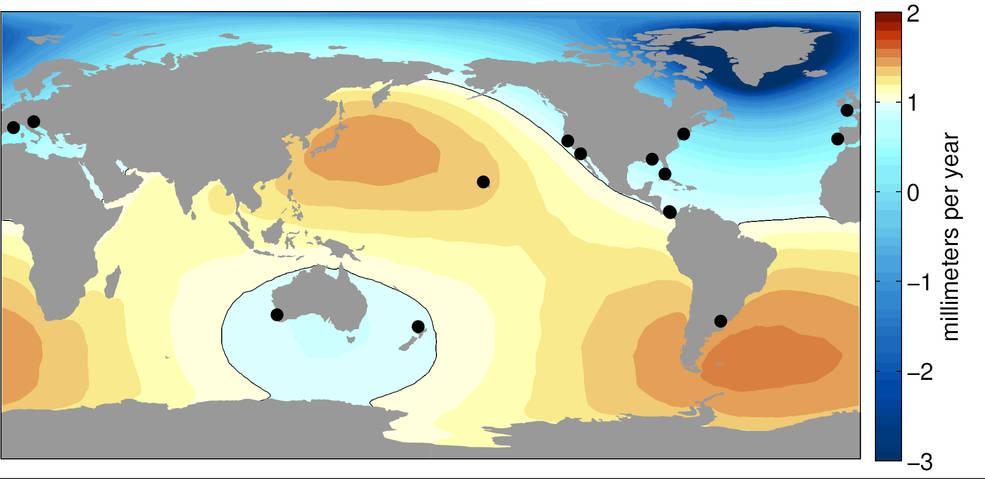 Illustration of sea level change