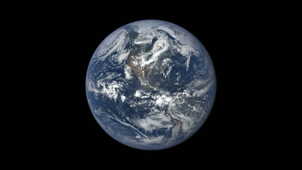 Earth from NASA's Earth Polychromatic Imaging Camera (EPIC), aboard NOAA's Deep Space Climate Observatory (DSCOVR) spacecraft