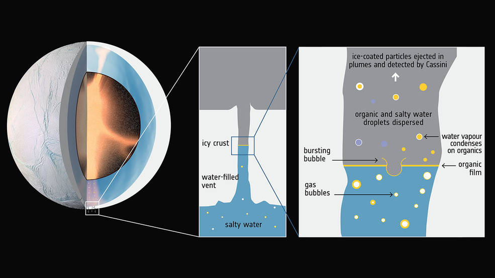 Hydrothermal activity in Enceladus' core