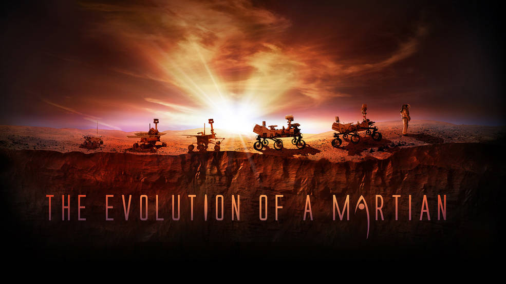 artist's illustration shows NASA's four successful Mars rovers