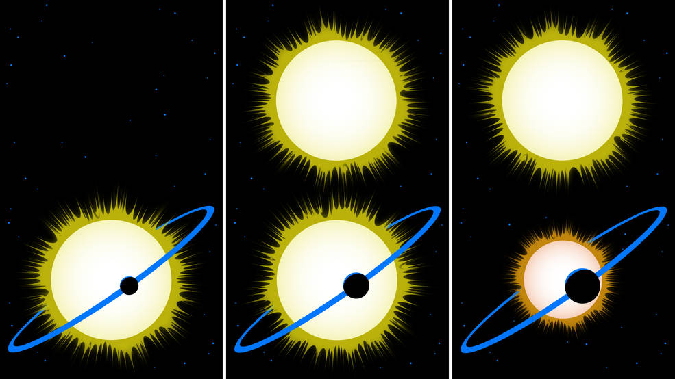 This cartoon explains why the reported sizes of some exoplanets may need to be revised.