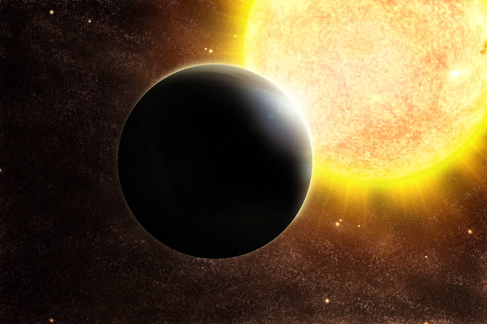 Artist's rendering of a Jupiter-sized exoplanet and its host