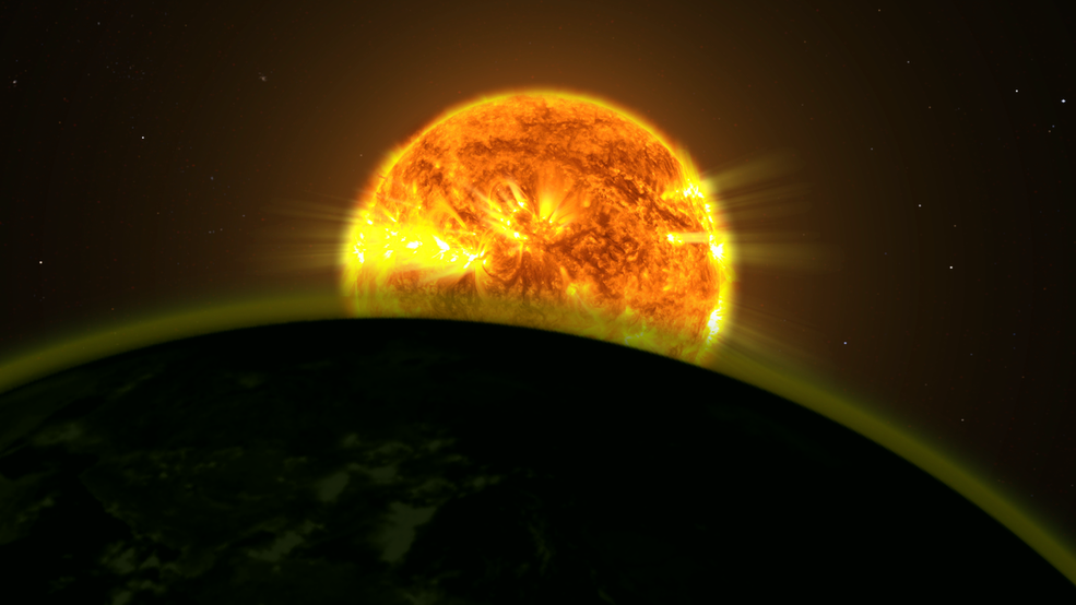 Conceptual image of an exoplanet