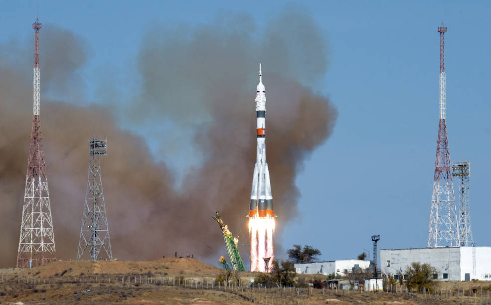 Soyuz MS-17 spacecraft launches at 1:45 a.m. EDT Wednesday, Oct. 14, 2020