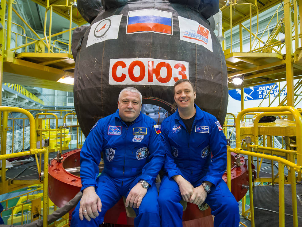 Fyodor Yurchikhin of the Russian space agency Roscosmos and Jack Fischer of NASA