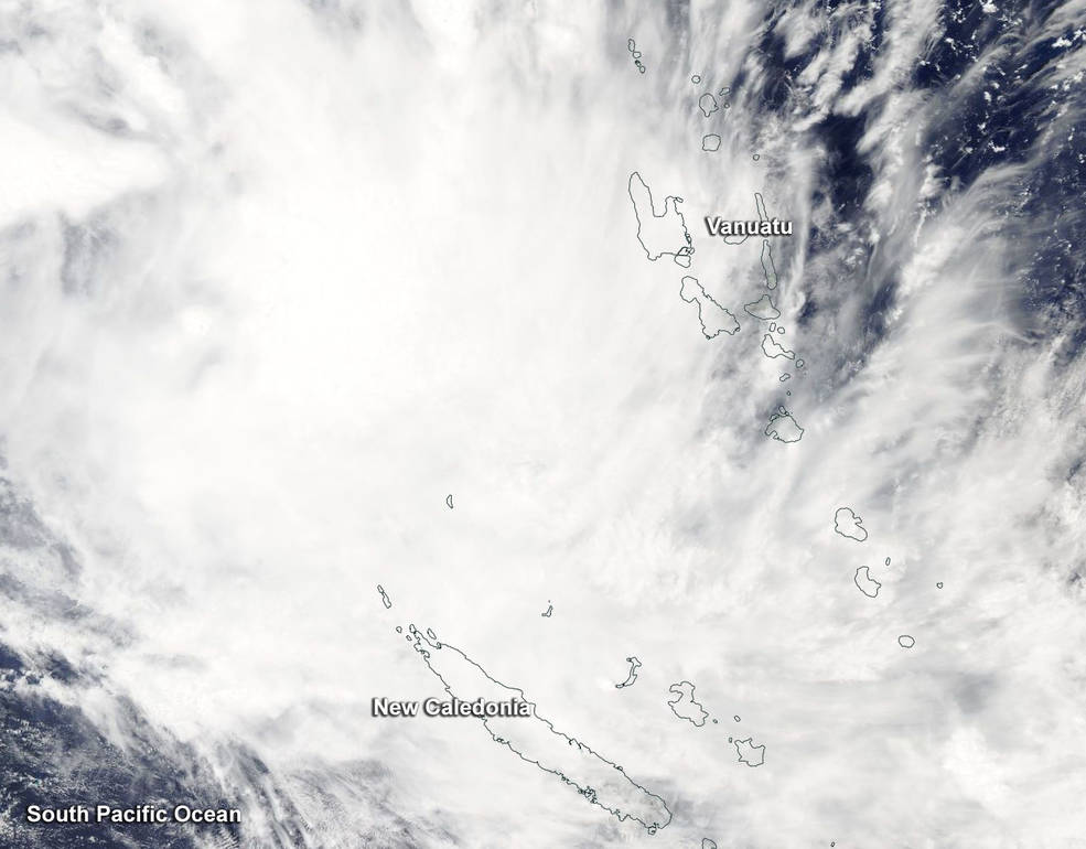 New Caledonia was being affected by Tropical Cyclone Fehi
