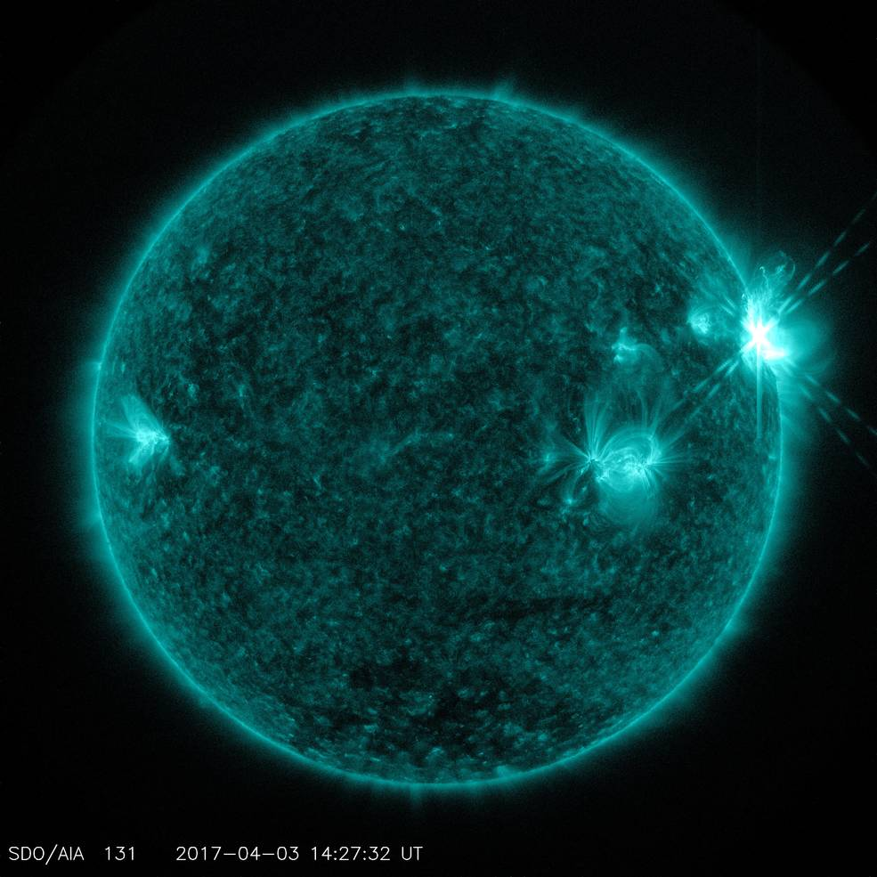 SDO solar flare image from April 3, 2017
