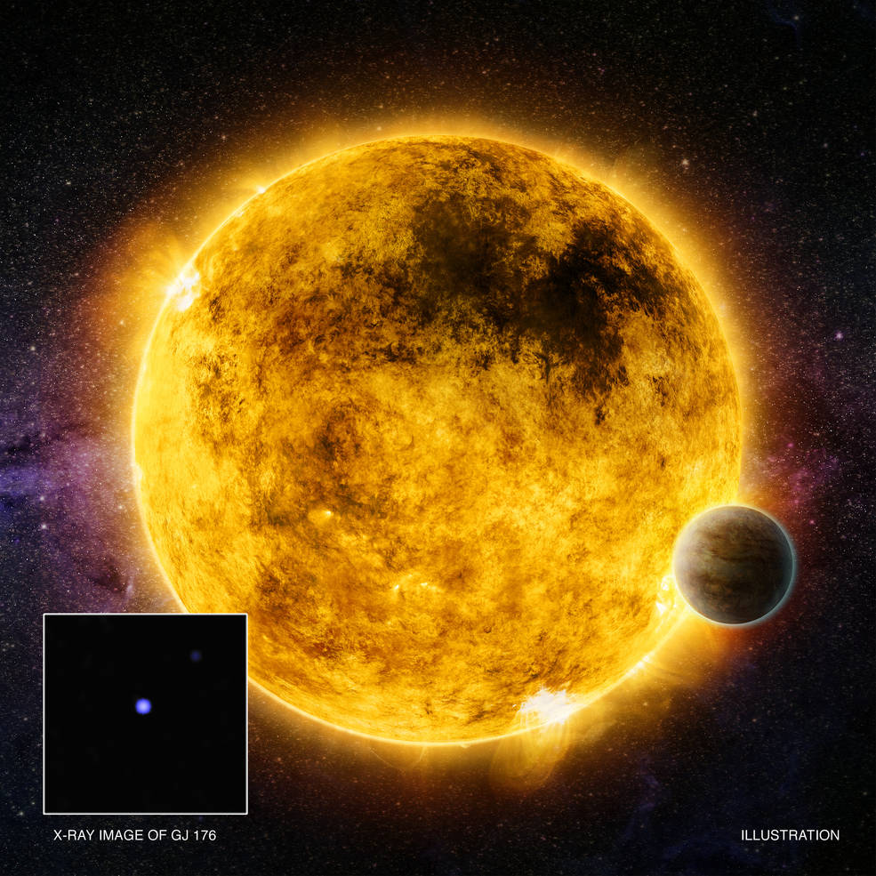 Artist illustration of of possible planet-hosting stars.