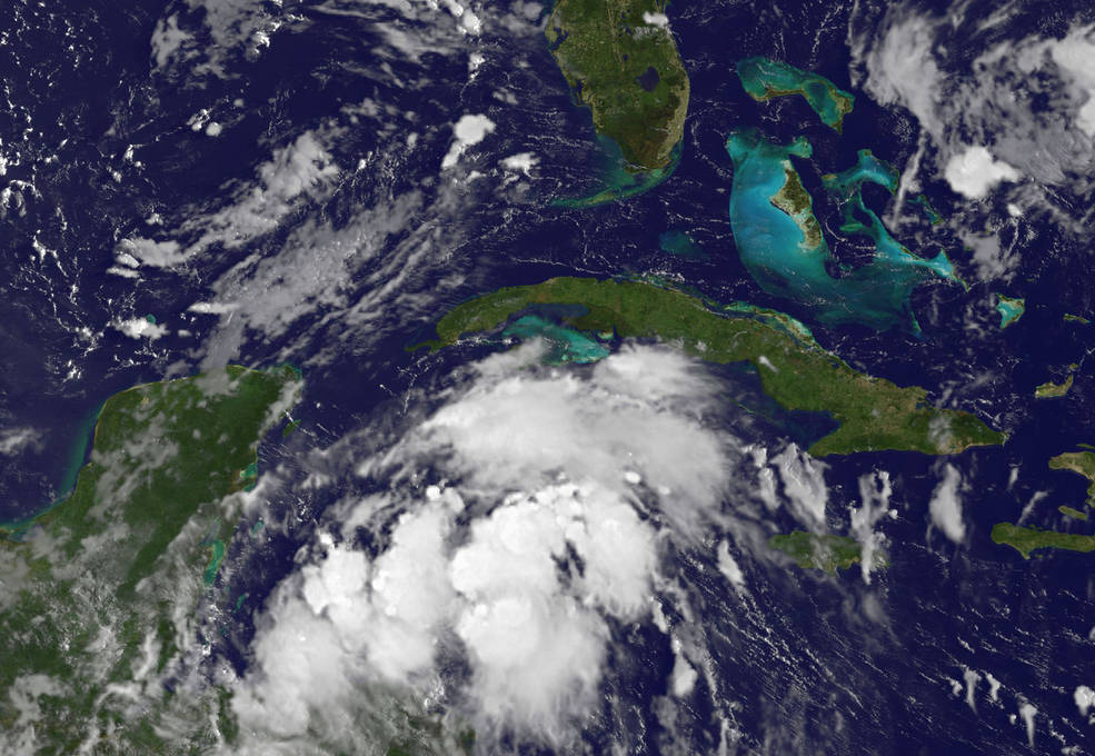 GOES image of Harvey