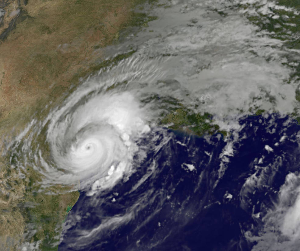 GOES-East image of Harvey