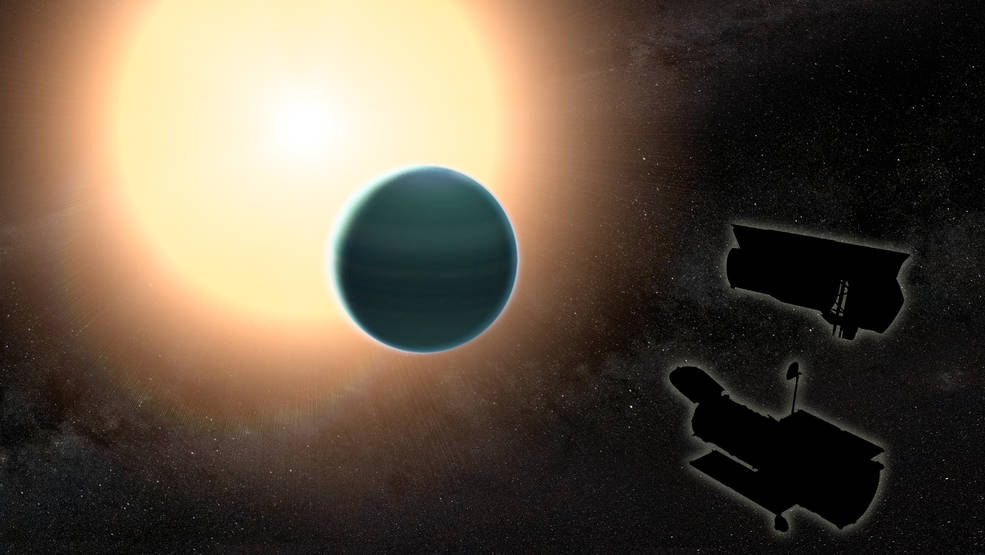 Illustration of the atmosphere of 'Warm Neptune'