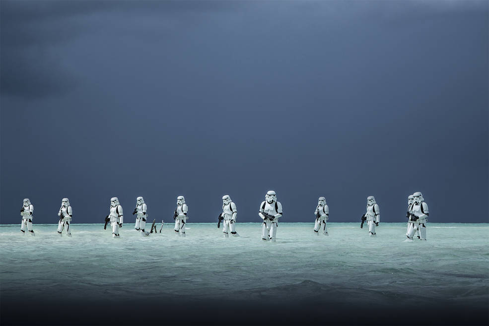"""Stormtroopers in the new Star Wars film """"Rogue One"""""""
