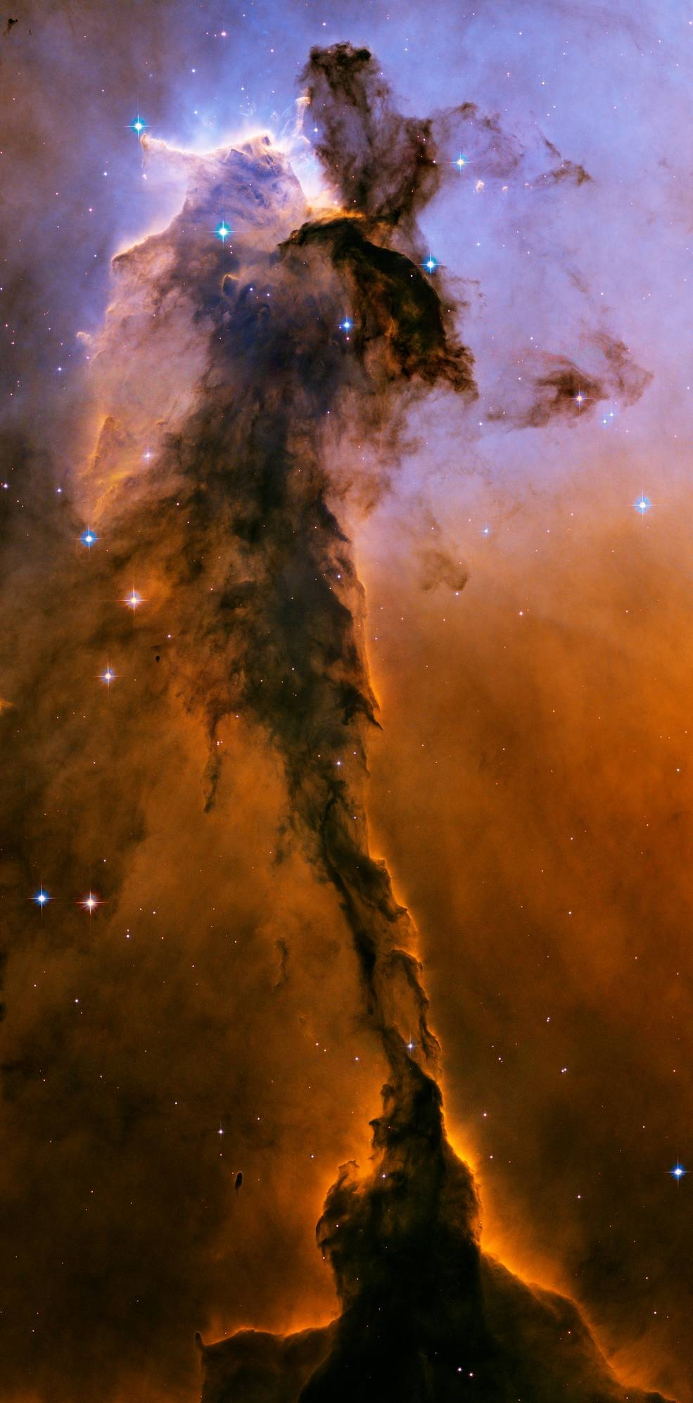 Hubble view of spire within M16