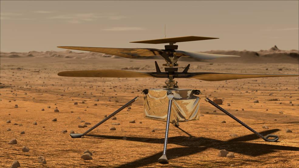 Los expertos en aeronáutica de la NASA ayudan a preparar a Ingenuity para volar en Marte.