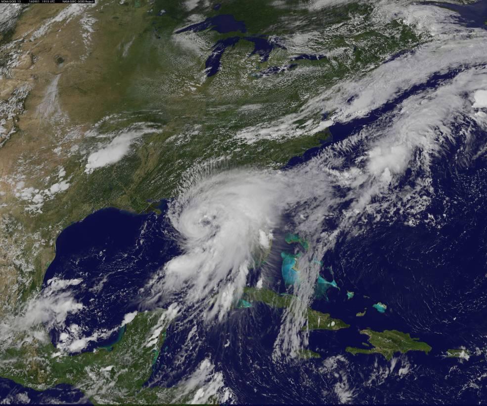 Visible image of Hurricane Hermine