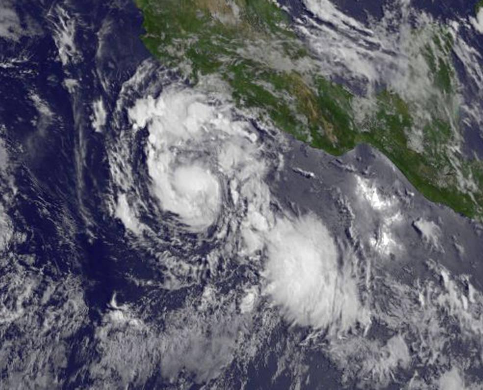 GOES-West image of Hilary