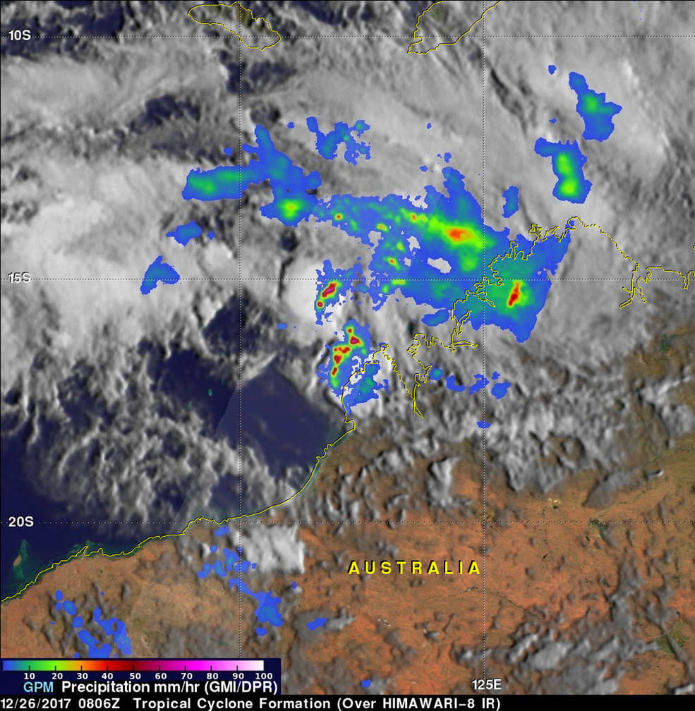 GPM analysis of rainfall from Hilda