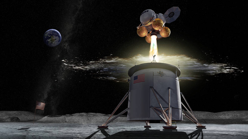 Concept image of ascent vehicle leaving the Moon