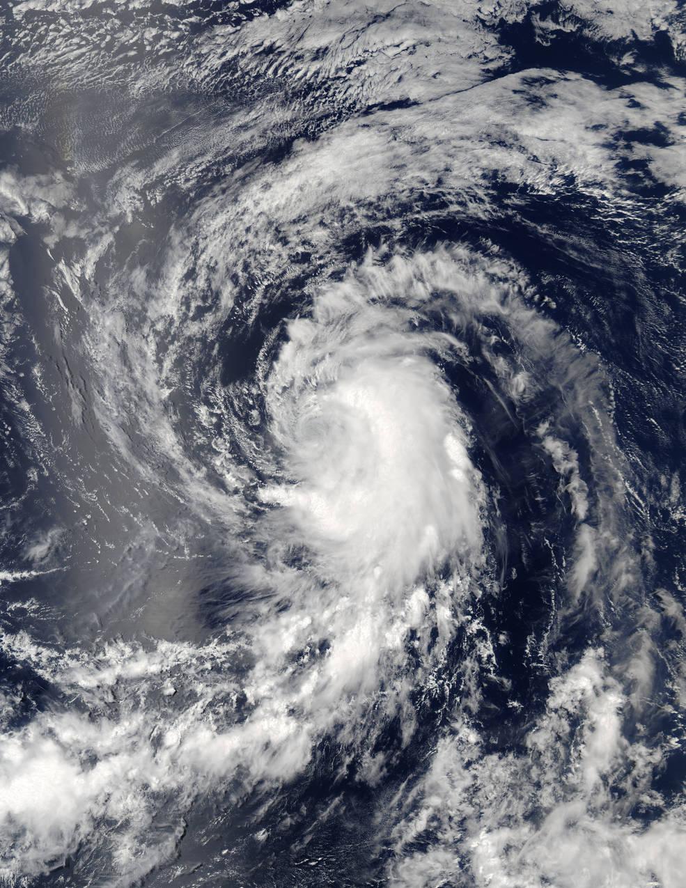 NASA's Spots Extra-Tropical Cyclone Conson in Sea of Okhotsk   NASA