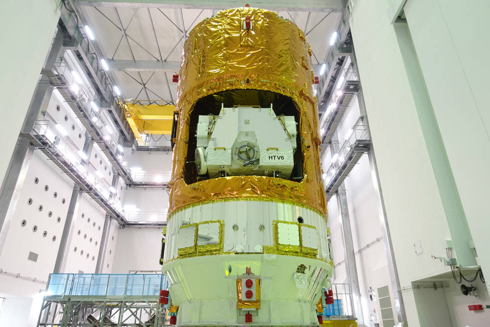 The H-II Transfer Vehicle 6 (KOUNOTORI 6) of the Japan Aerospace Exploration Agency (JAXA)