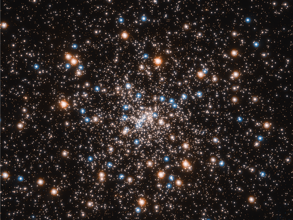 clustered sprinkle of multi-colored stars