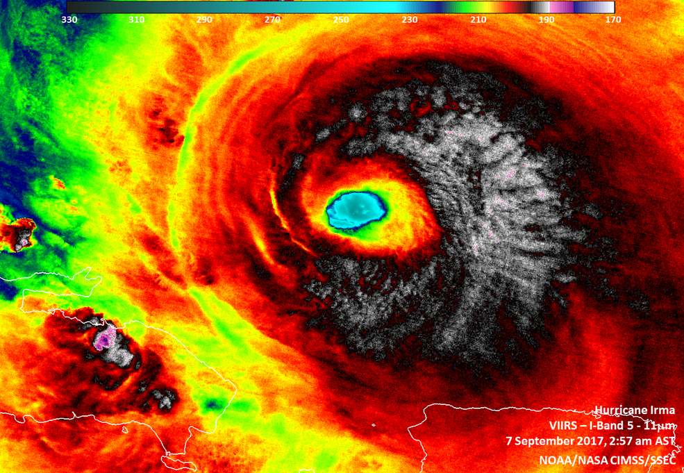 Suomi NPP infrared image of Irma