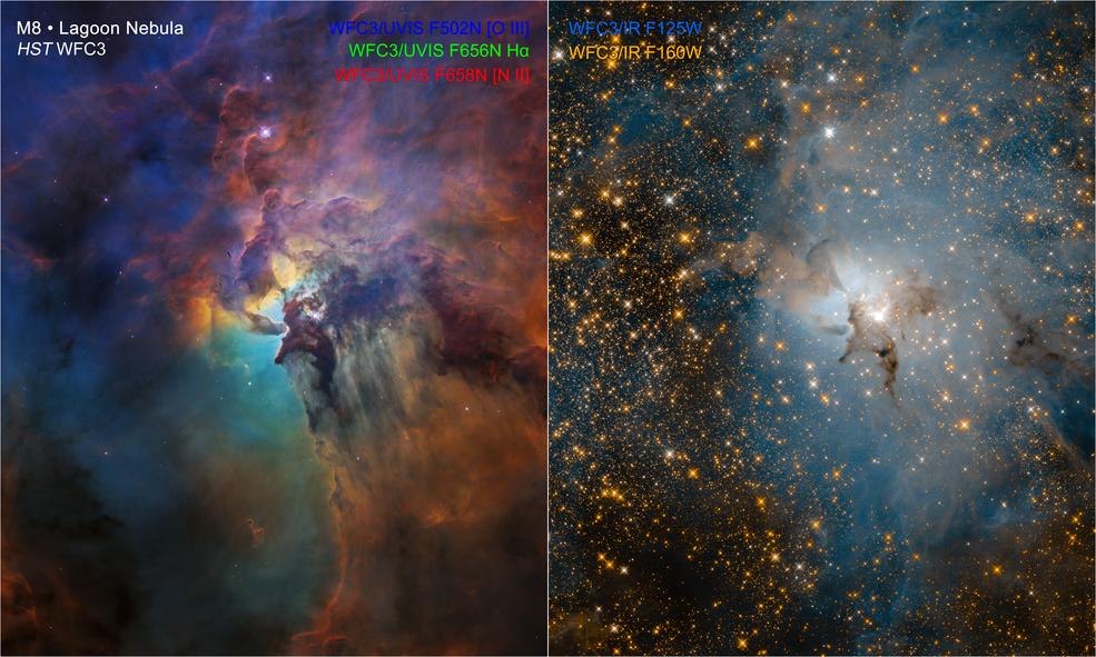 Two Hubble Views of the Same Stellar Nursery Image1lowstscihp1821cd1280x720