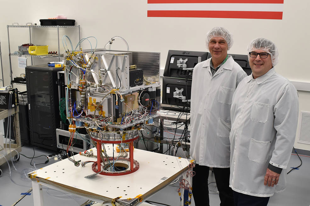 Tom Cwik, the head of JPL's Space Technology Program (left)