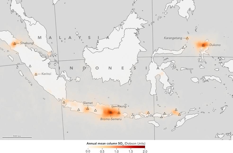 map of indonesia with orange data overlay