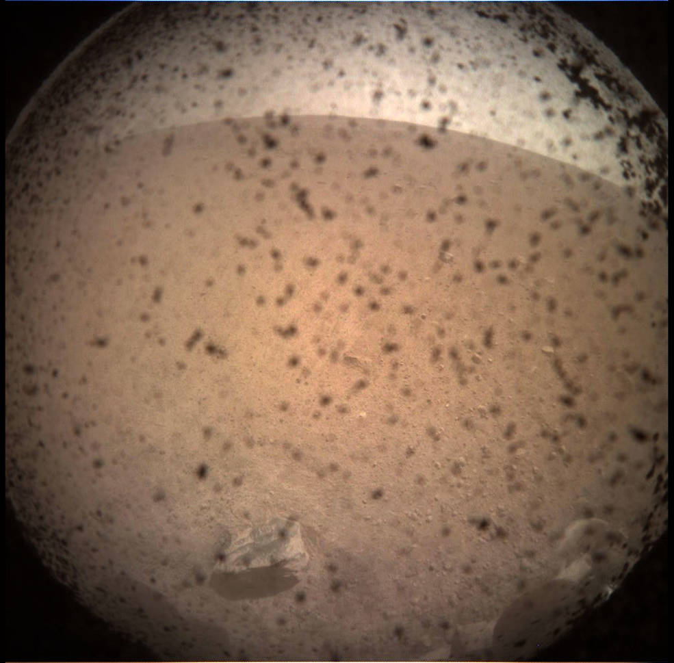 NASA's InSight Mars lander acquired this image of the area in front of the lander