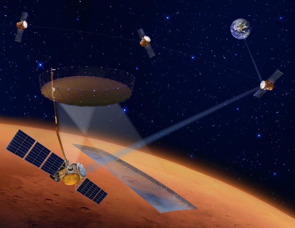 La NASA y los socios internacionales evalúan la misión para cartografiar el hielo en Marte y orientan las prioridades científicas.