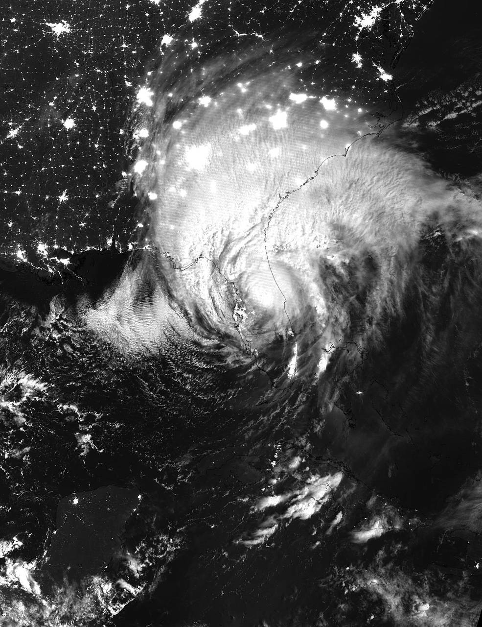 Suomi NPP image of Irma at night