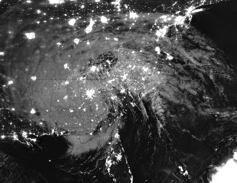 Suomi NPP nighttime image of Irma