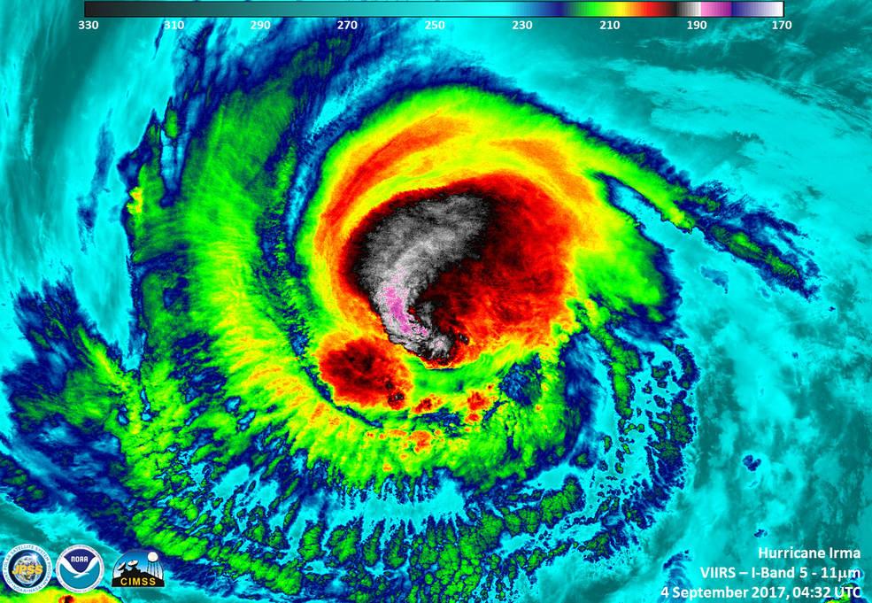 Suomi NPP image of Irma