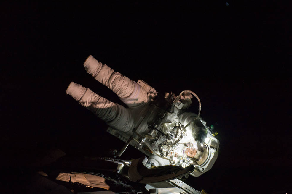 Peggy Whitson During her Eighth Spacewalk