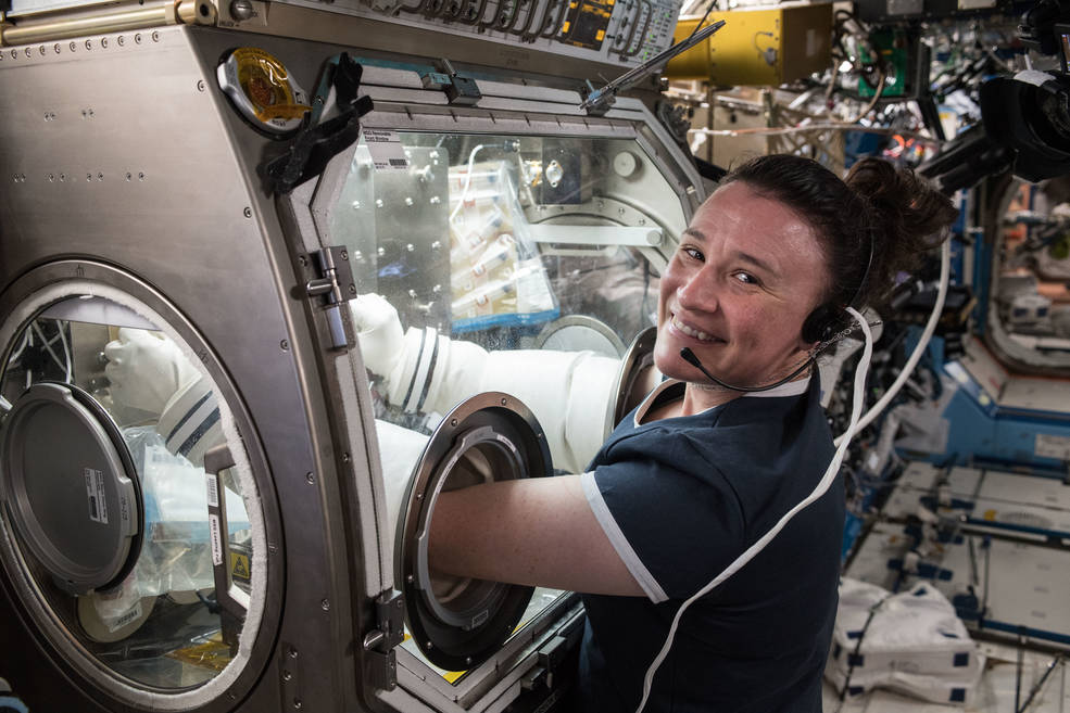 NASA Astronaut Serena Aunon-Chancellor conducts research aboard the International Space Station