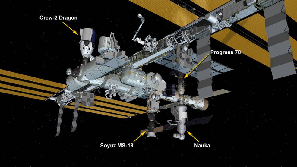 July 29, 2021: International Space Station Configuration