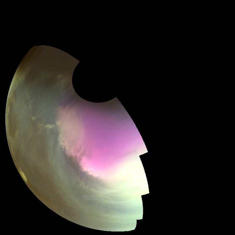 MAVEN ultraviolet image of polar ozone on Mars