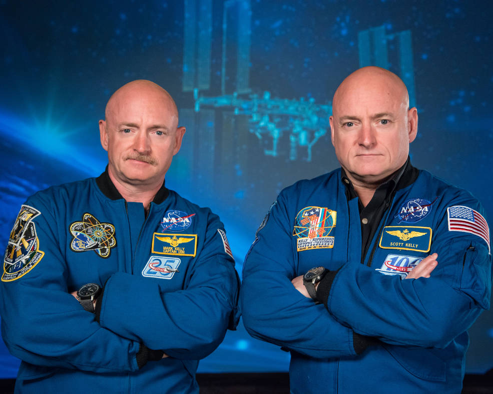 Former astronauts Scott Kelly and Mark Kelly