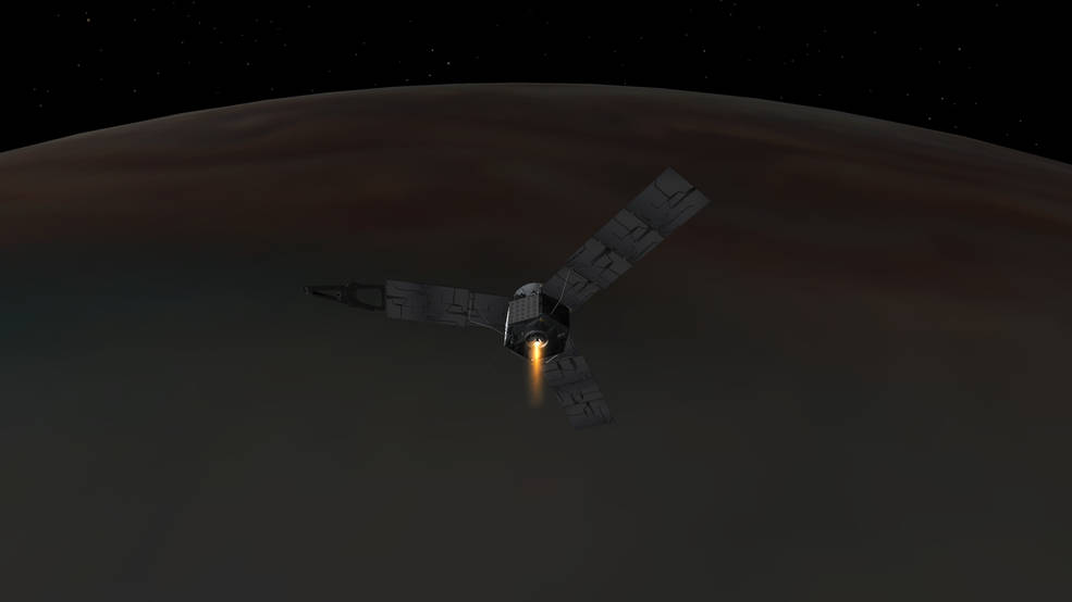 Juno Enters Orbit Around Jupiter