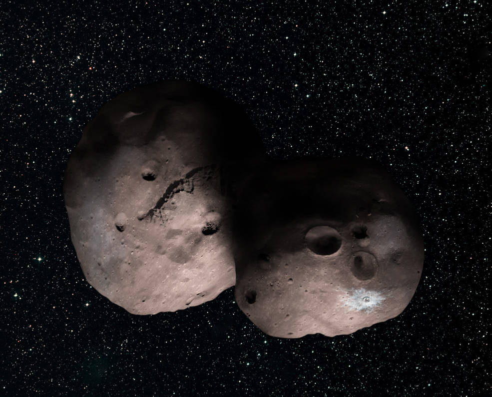 One artist's concept of Kuiper Belt object 2014 MU69, the next flyby target for NASA's New Horizons mission