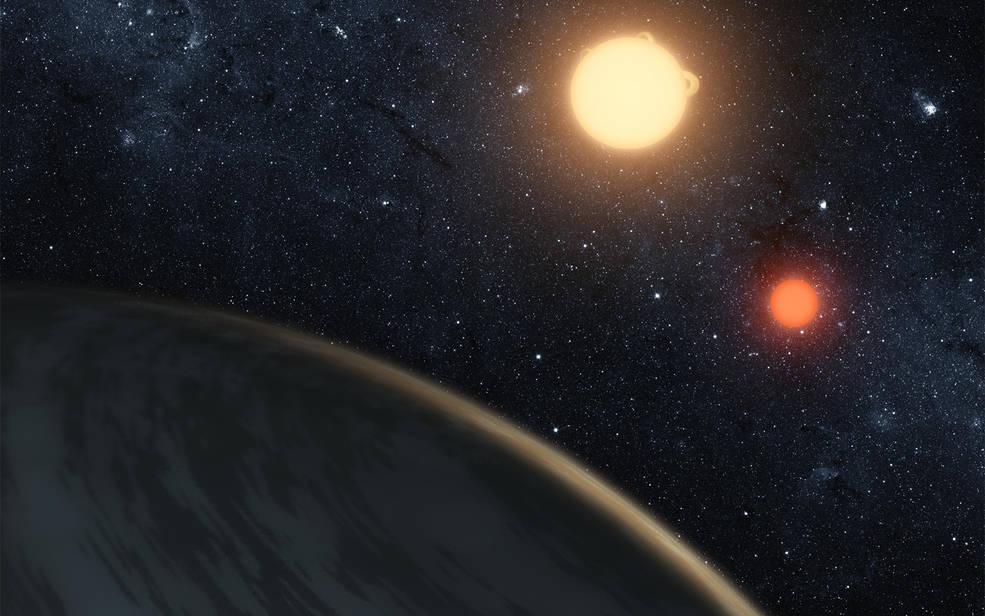 Artist's concept of Kepler-16b