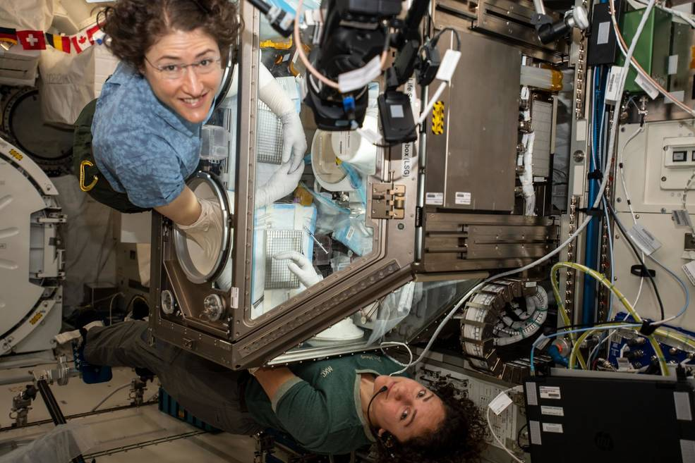 NASA astronauts Christina Koch and Jessica Meir.