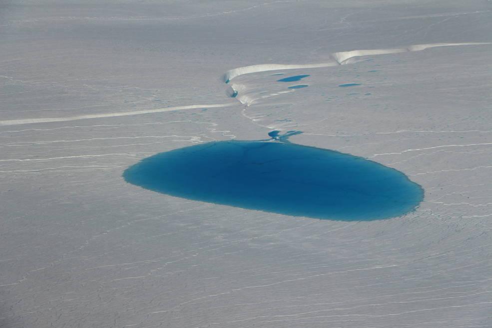 A supraglacial lake