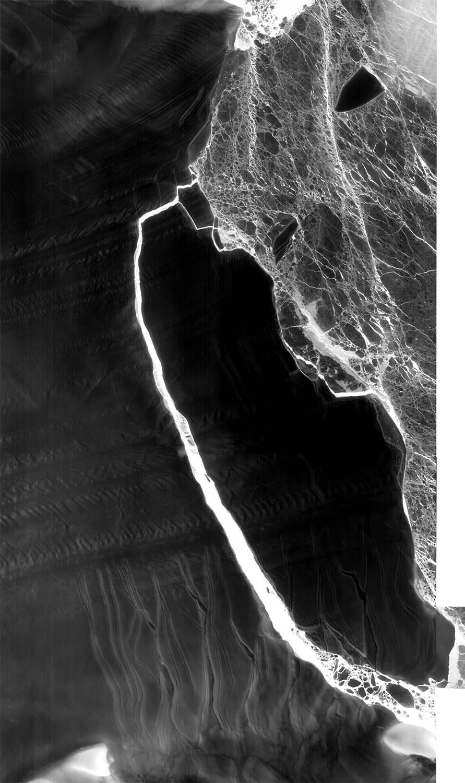 Landsat 8 view of Larsen C iceberg